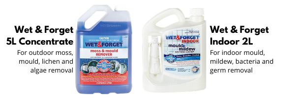 Wet & Forget Indoor and Outdoor Mould Removal Products