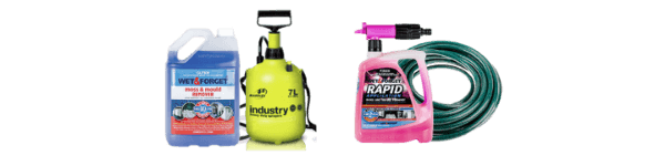 Wet & Forget Concentrate With a Garden Sprayer and Rapid Application With a Standard Garden Hose