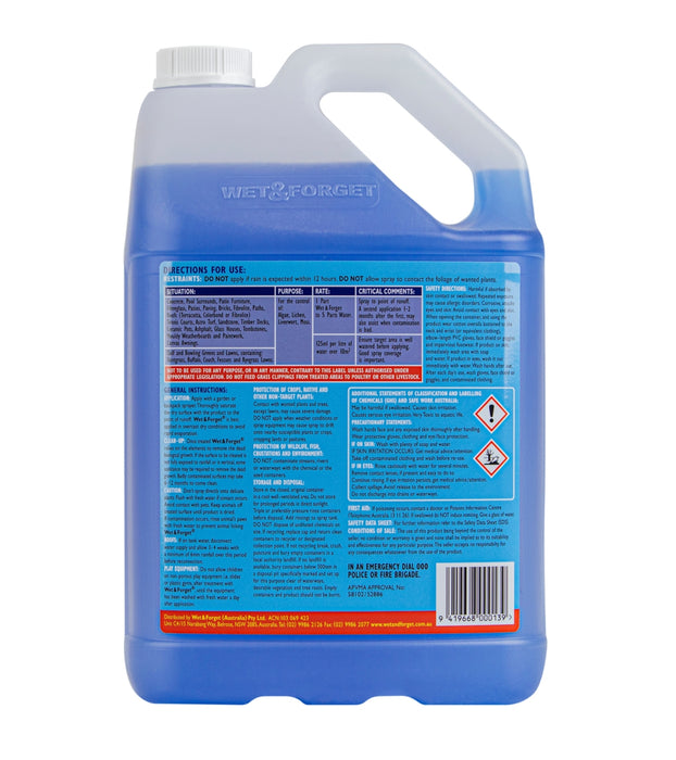 Wet & Forget Concentrate 5L Moss & Mould Remover