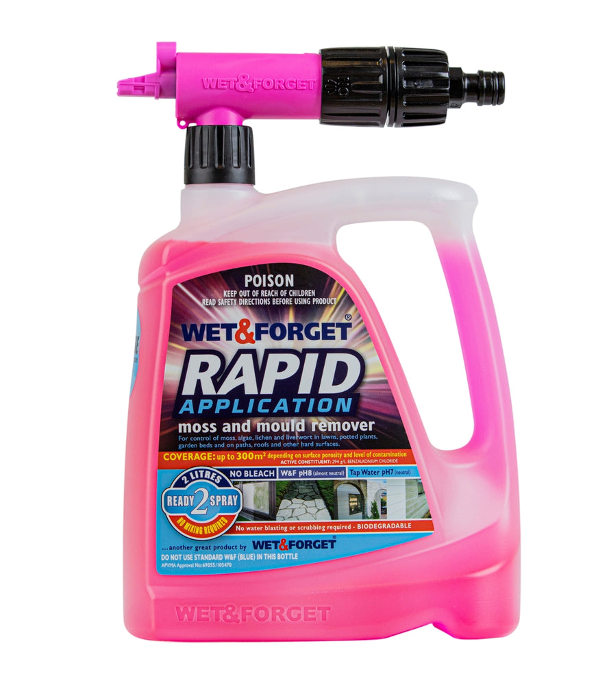 Rapid Application Moss & Mould Remover 2L Hose-End