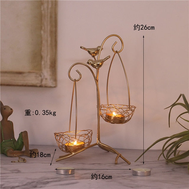Hanging Basket Candle Holder