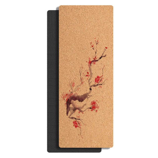 Cherry Blossom Cork Yoga Mat (4mm)