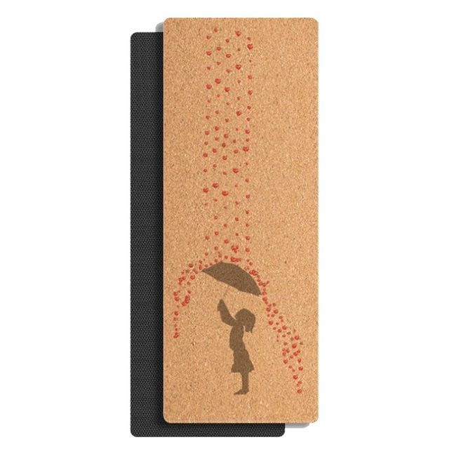 Raining Love Cork Yoga Mat (4mm)