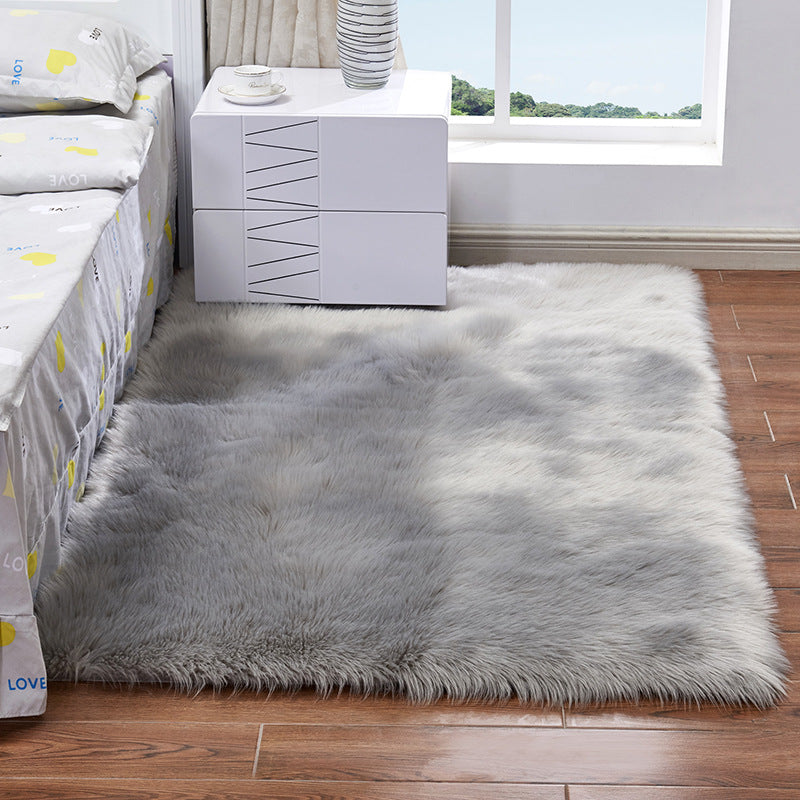 Fluffy Rectangle Area Rug (Available In 3 Colors)
