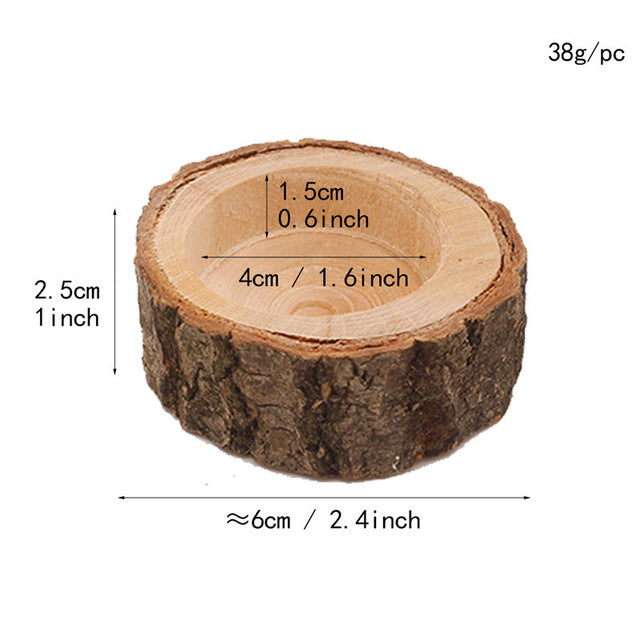 3pcs Wooden Candle Holder