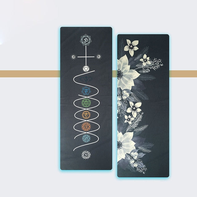 Double Sided Spiral Yoga Towel