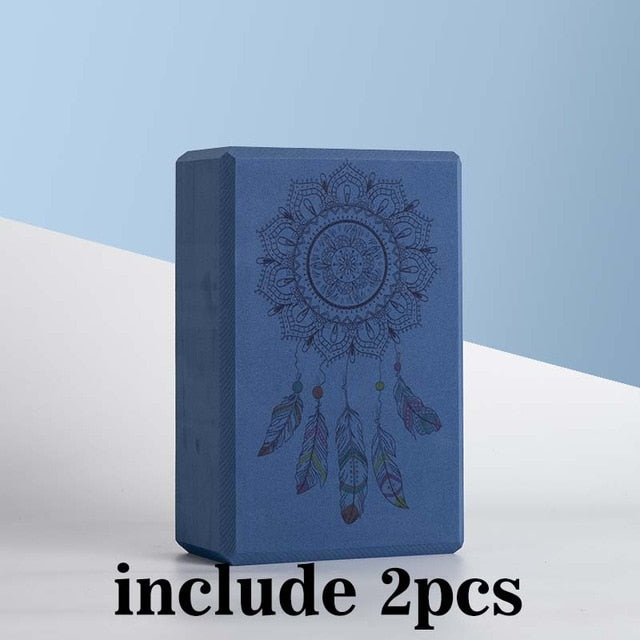 2 Dream Catcher Foam Yoga Blocks & Strap (Available in 4 Colors)