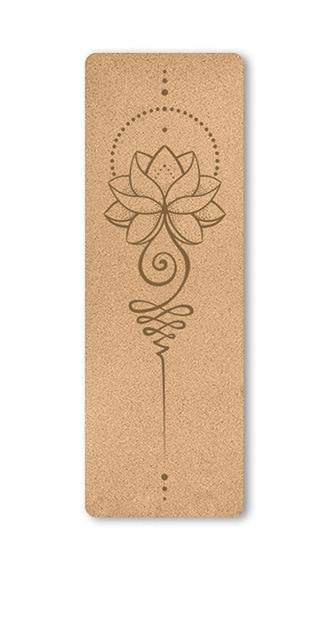 Flying Lotus Cork Yoga Mat (5mm)
