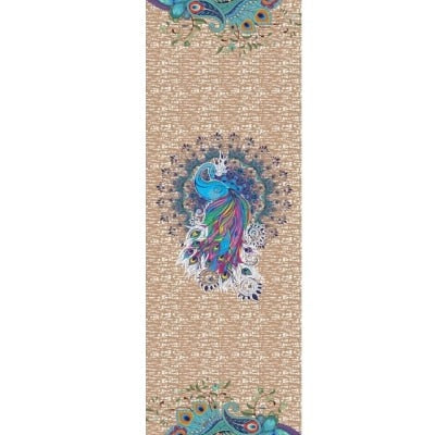 Peacock Yoga Towel
