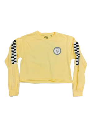 WMS Cream Checker Crop Long Sleeve