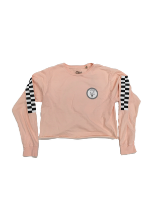 Load image into Gallery viewer, WMS Cream Checker Crop Long Sleeve