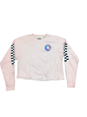 Load image into Gallery viewer, Cream Check Tie Dye Crop