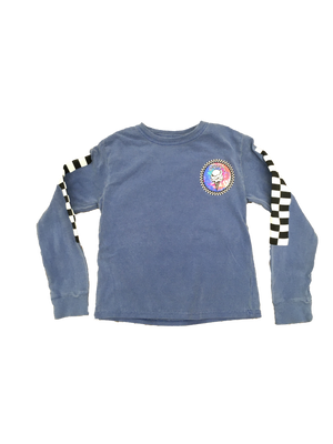 Load image into Gallery viewer, Youth Cream Checker Long Sleeve