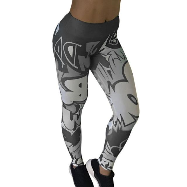 Cartoon Workout Slim Legging Bottoms