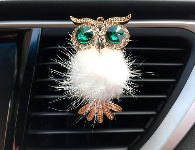 Crystal Owl Car Air Freshener Auto Outlet Perfume Clip Bling Bling Car Accessories