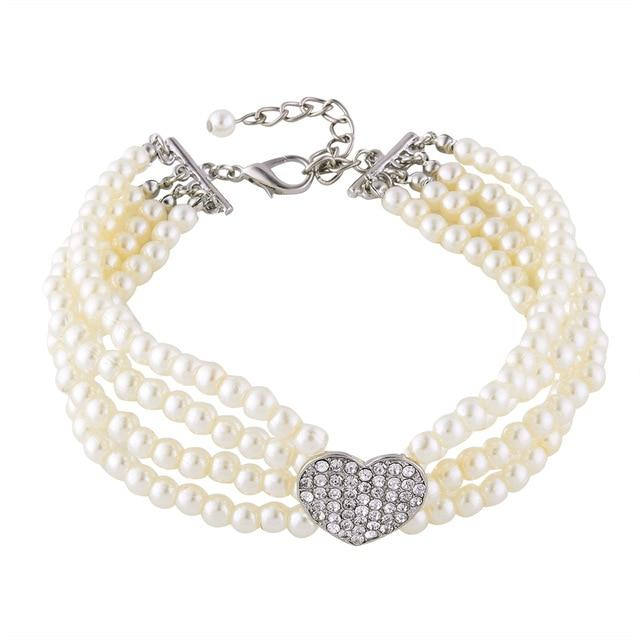Elegant Luxury Pearl Dog Collar