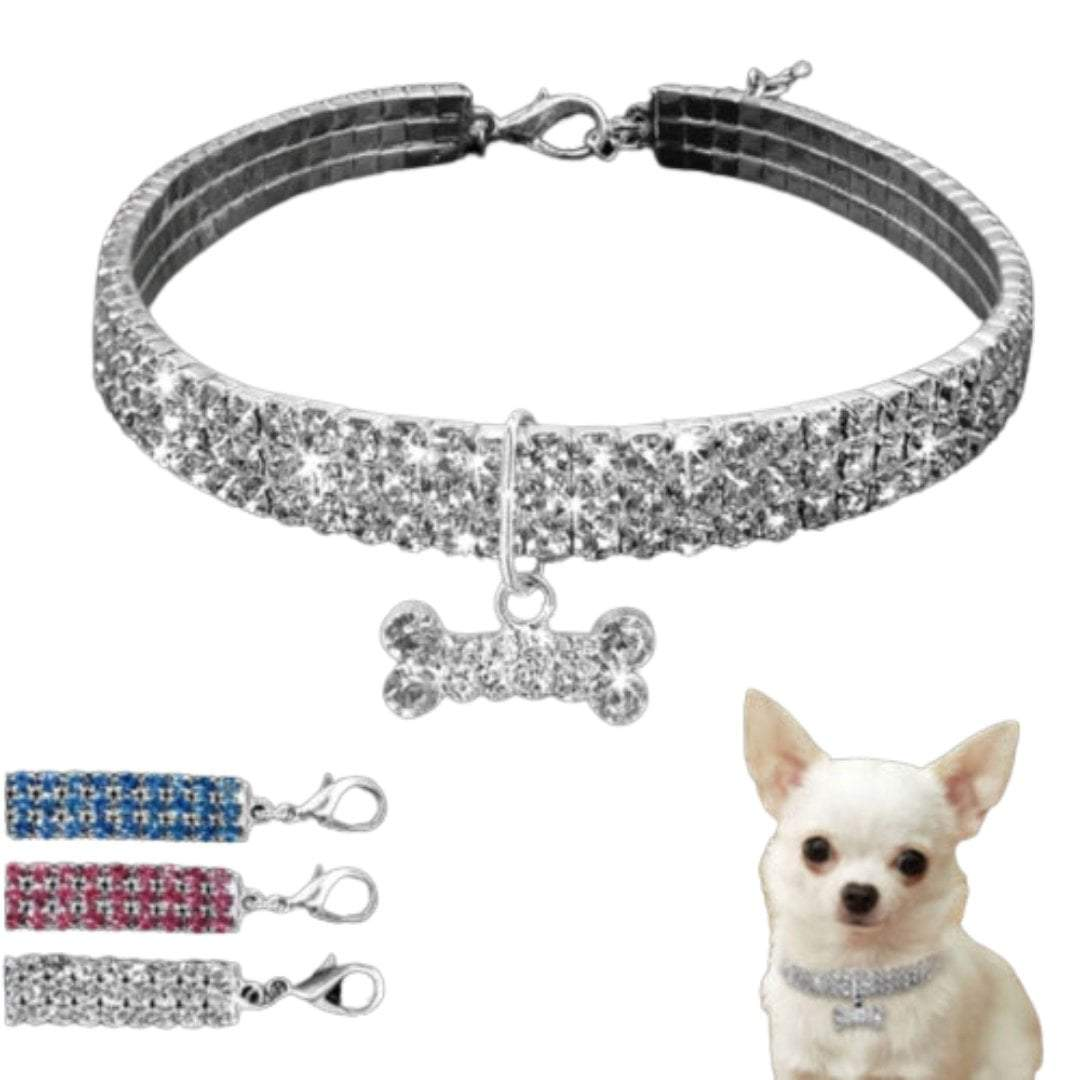 Hot Bling Rhinestone Dog Necklace Collar