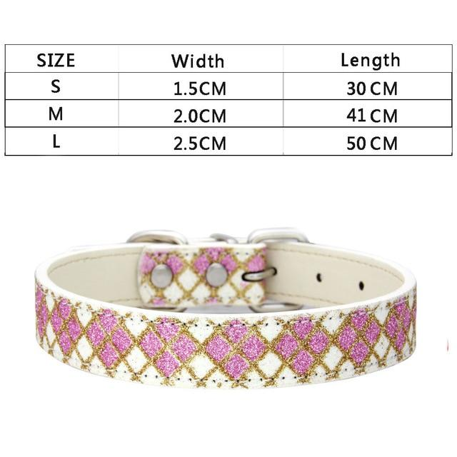 Luxury Dog Collar for Small Large Dogs