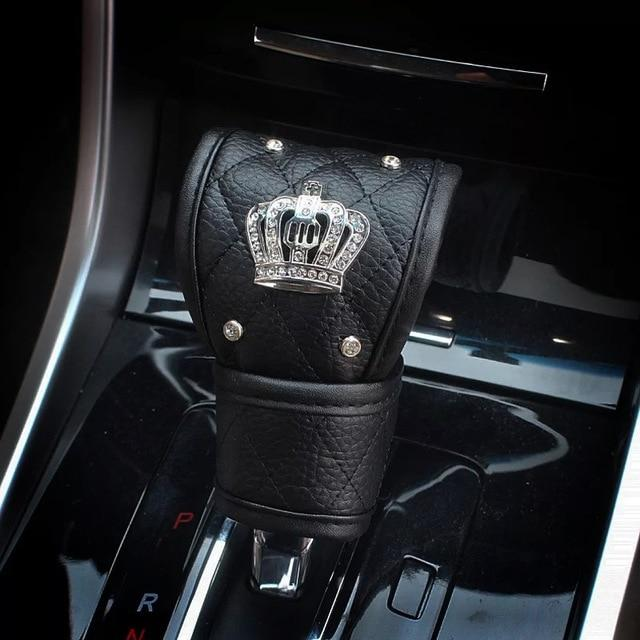 Luxury PU Leather Car Steering Wheel Cover /Universal Bling Bling Car Accessories