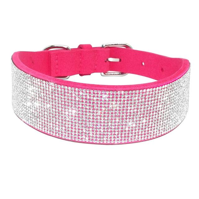 Oversized Bling Leather Dog Cat Collars