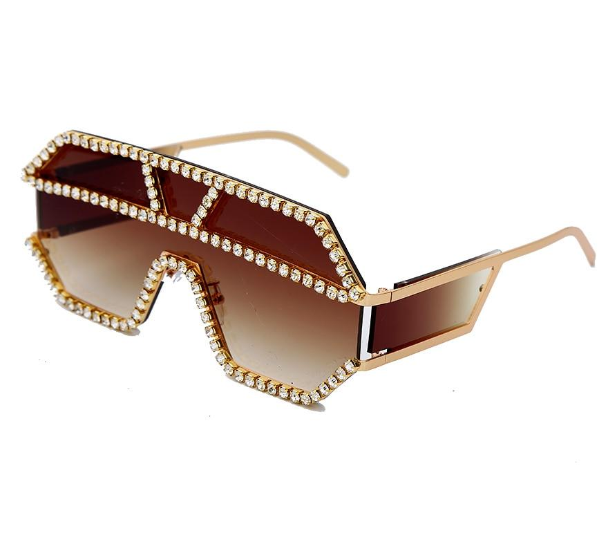 Oversized Rhinestone Unisex Sunglasses Women's Accessories Oversized  Rhinestone Unisex Sunglasses
