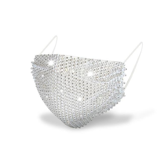 Women Diamond Bling Facemask Face Mask