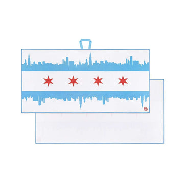 Chicago Skyline - Players Towel