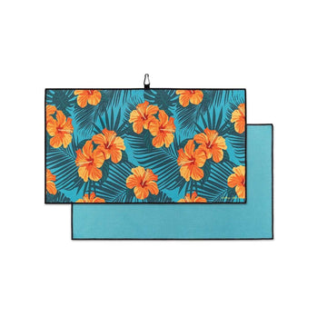 Orange Hibiscus - Clip on Towel