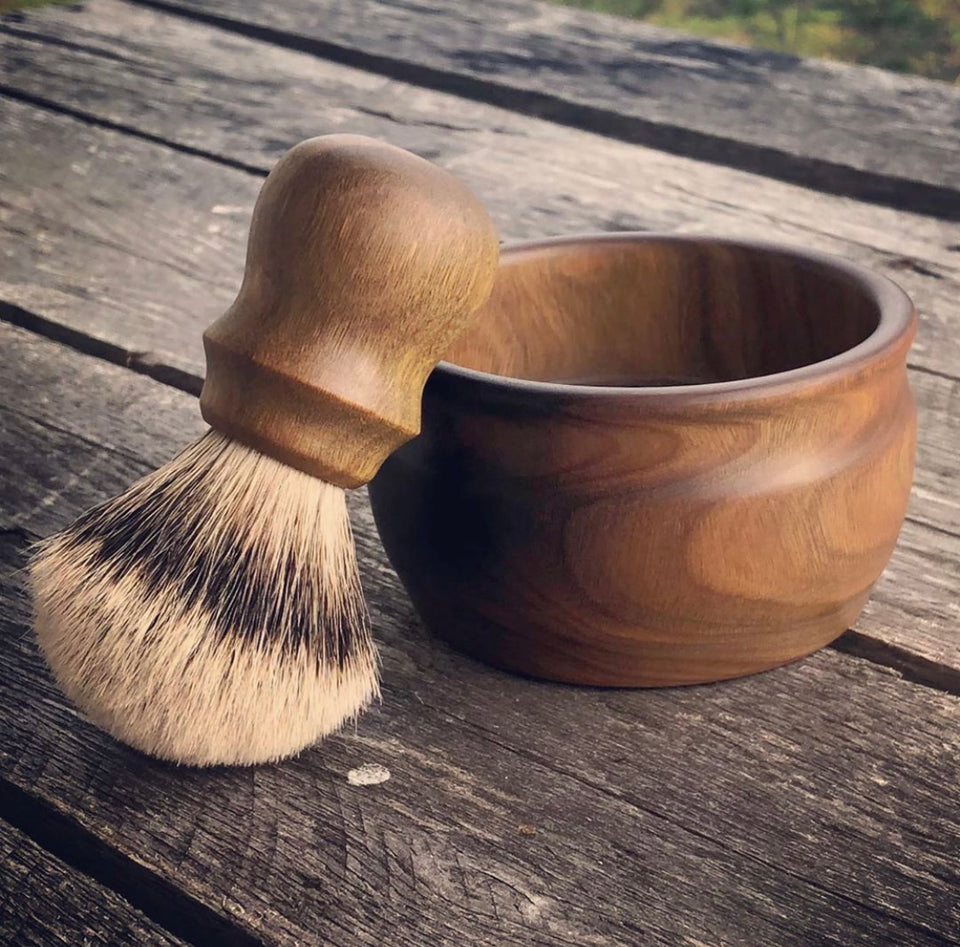 Verawood Shave Brush and Bowl