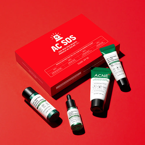 SOME BY MI - AHA, BHA, PHA 30 Days Miracle AC SOS Kit (4 Pcs)