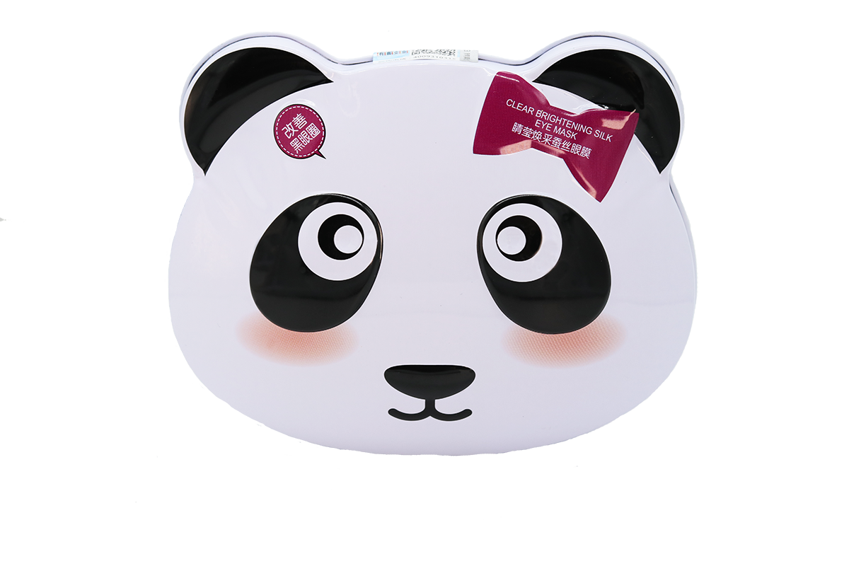 MENGKOU - Panda Silk Eye Mask box set of 10
