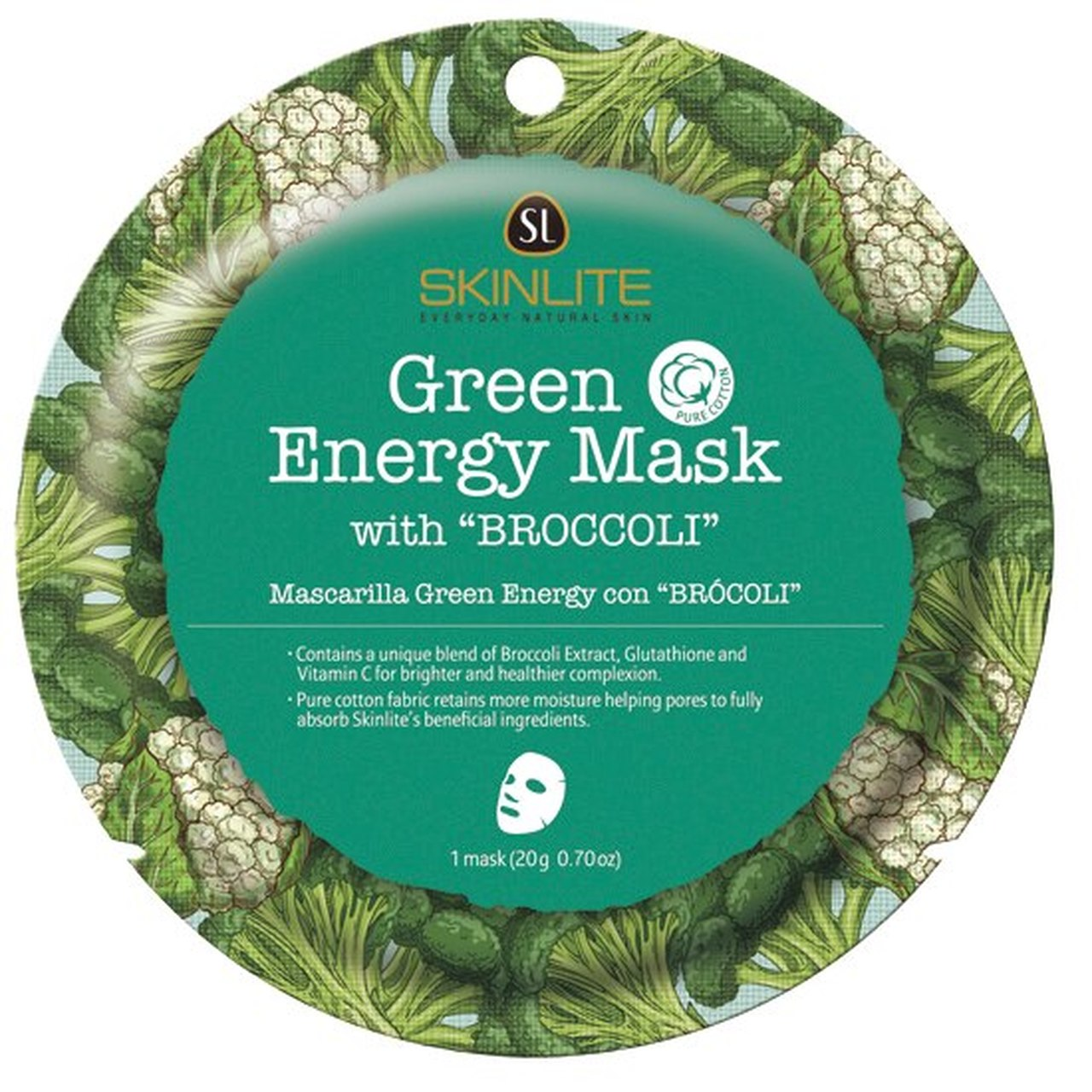 SKINLITE - Green Energy Mask with Broccoli