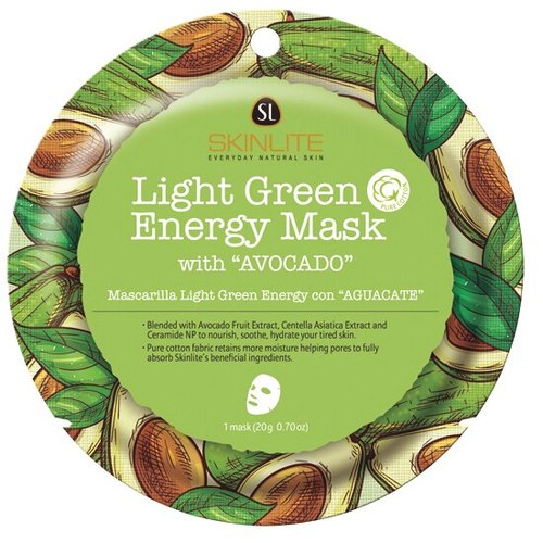 SKINLITE - Light Green Energy Mask with Avocado