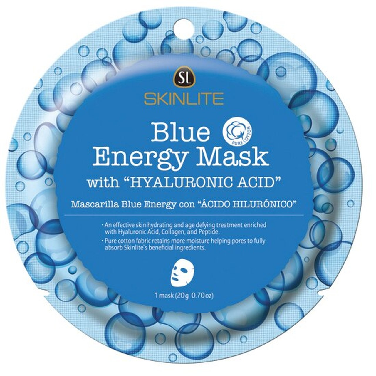 SKINLITE - Blue Energy Mask with Hyluronic Acid