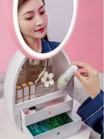 USB Rechargeable LED Egg Makeup  Storage Organizer Icicosmetic™
