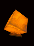 Natural Onyx Stone Cube Table Lamp