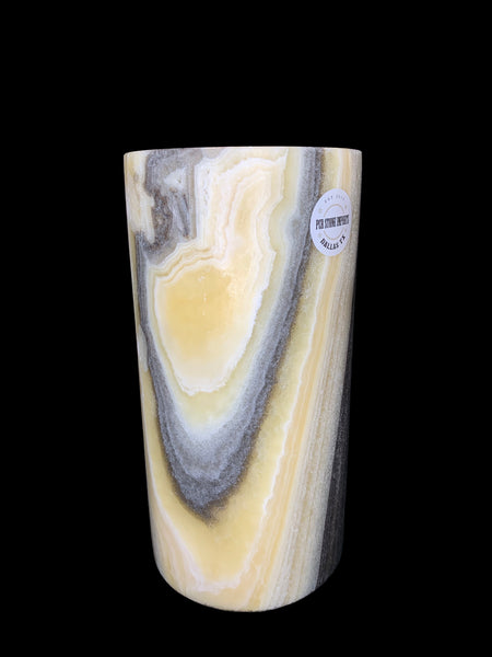 Yellow Onyx with Dark Spots Table Lamp