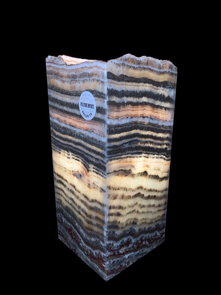 Natural Onyx with Dark Stripes Luminaire