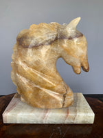 Carved Onyx Horse Sculpture