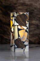 Rectangular Table Lamp Made of Onyx Stone