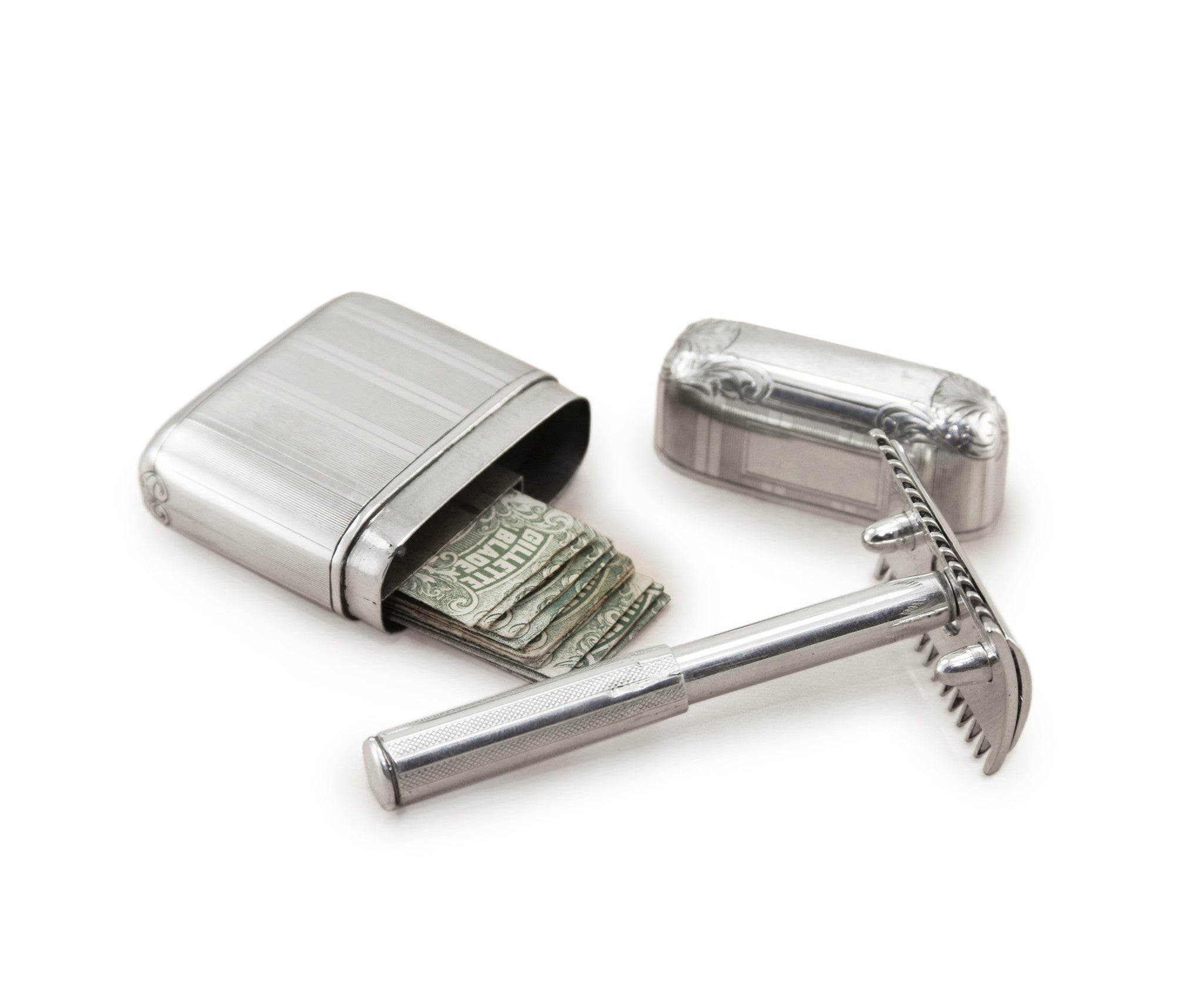 1920's Gillette Luxury Sterling Silver Razor Set