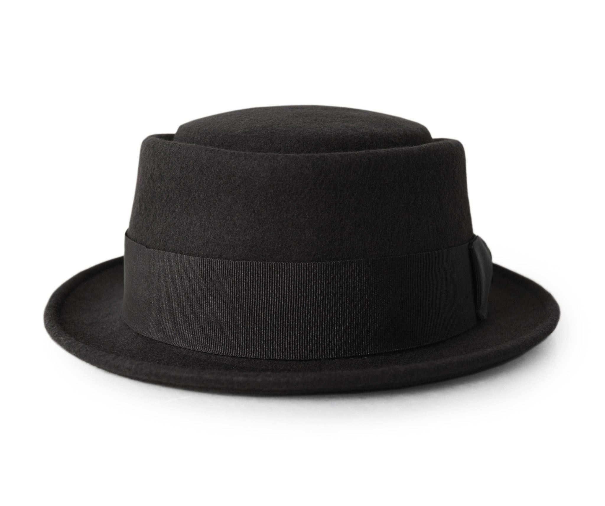 Black Pork Pie Hat for Men