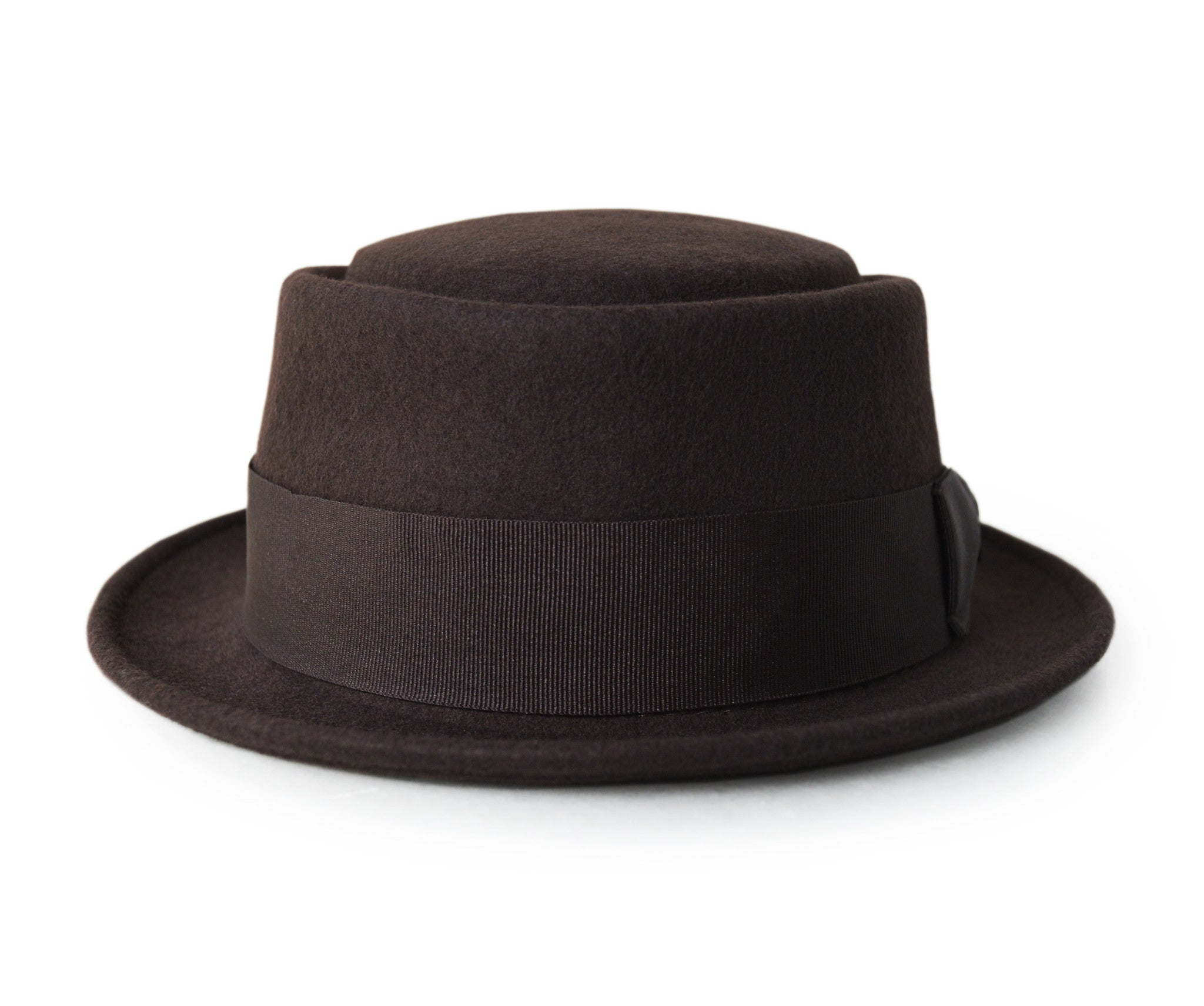Brown Pork Pie Hat for Men