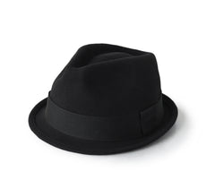 "Trilby Hat for Men^{""Color"":""Black""}"