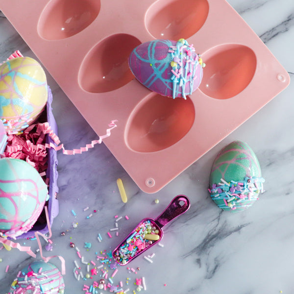 3D 8-Cavity Silicone Easter Egg Mold