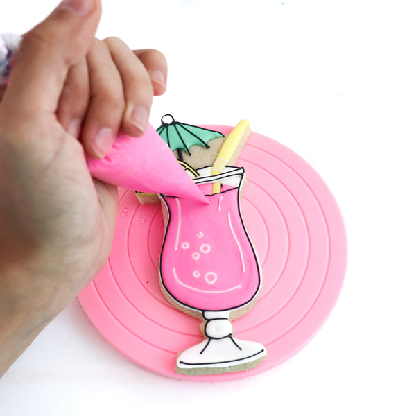 Mini Pink Cupcake and Cookie Turntable