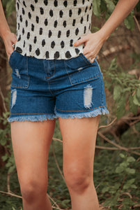 The Perfect Distressed Short