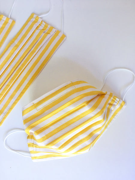 Lemonade Stand Striped Face Mask