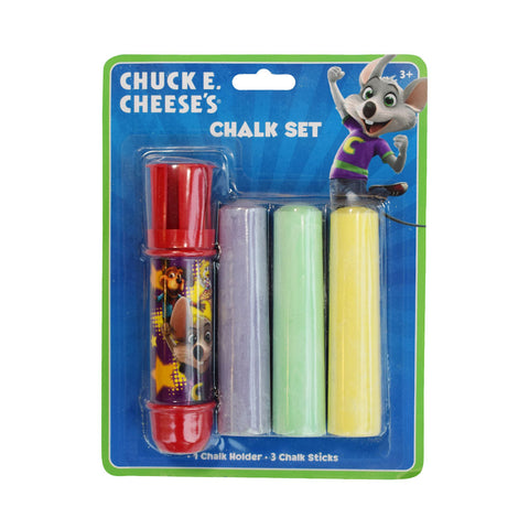 Sidewalk Chalk Set with Chuck E. Cheese Chalk Holder