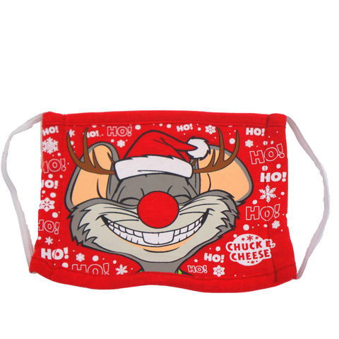 Chuck E. Cheese Red Holiday Face Mask for Kids